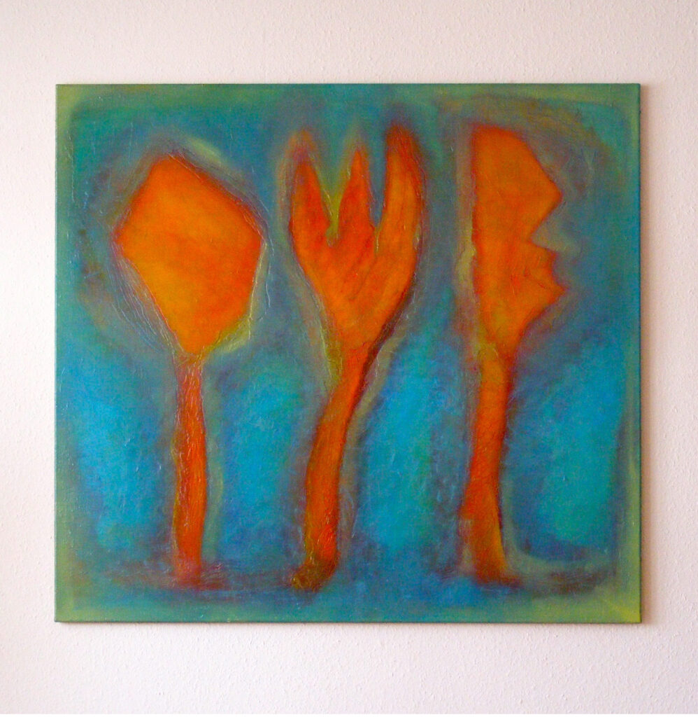Yasmin Maier, Oil Painting, Don't bite the hand that feeds, 1994