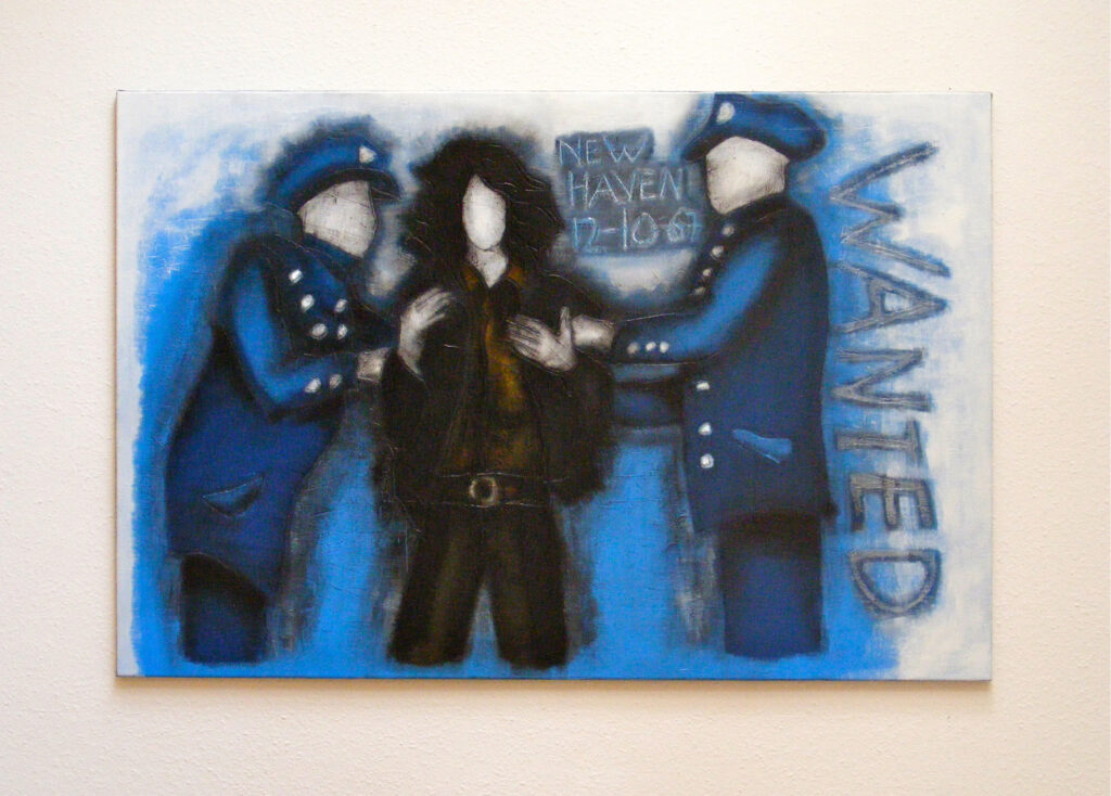 Yasmin Maier, Oil Painting, Jim Morrison arrested in New Haven, 2004